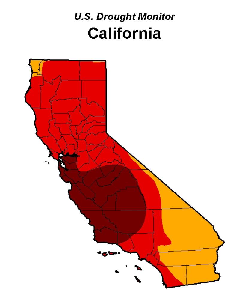 US Drought Monitor CA