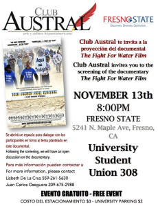 Fresno State Austral Hosts Fight For Water Film