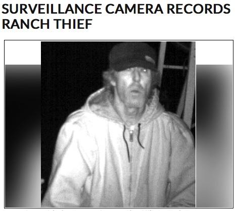 Ranch Thief caught by Surveillance Camera