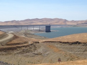 San Luis Reservoir -Empty, California Farm Water Coalition