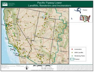 USDA Pacific Flyway Map