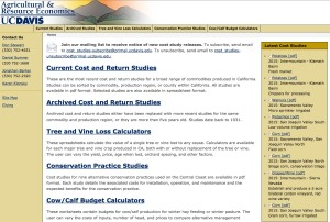 ARE Cost and Return Studies