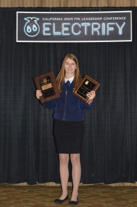 Halley Lauchland, 2016 FFA Star State Degree in Agribusiness Award winner